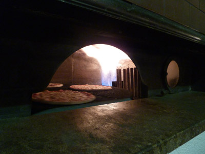 Pizza from the wood oven